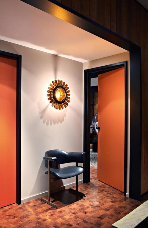 Kelly-Wearstler orange doors